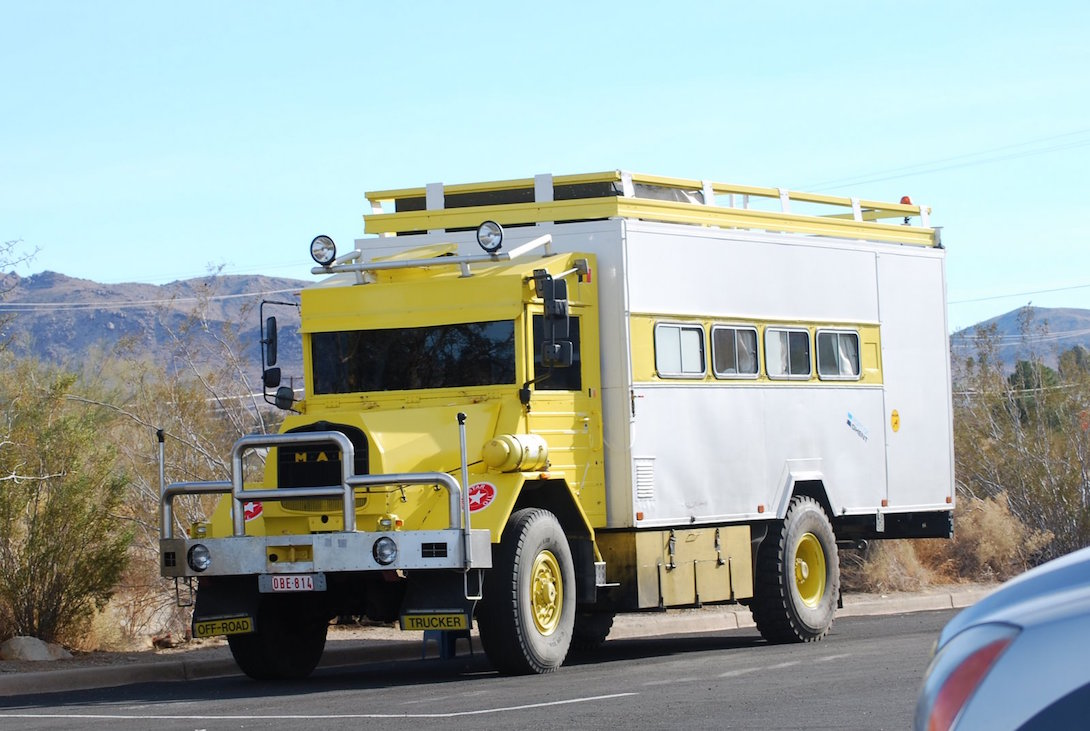 Picture Of The Day Vintage Man Truck Camper