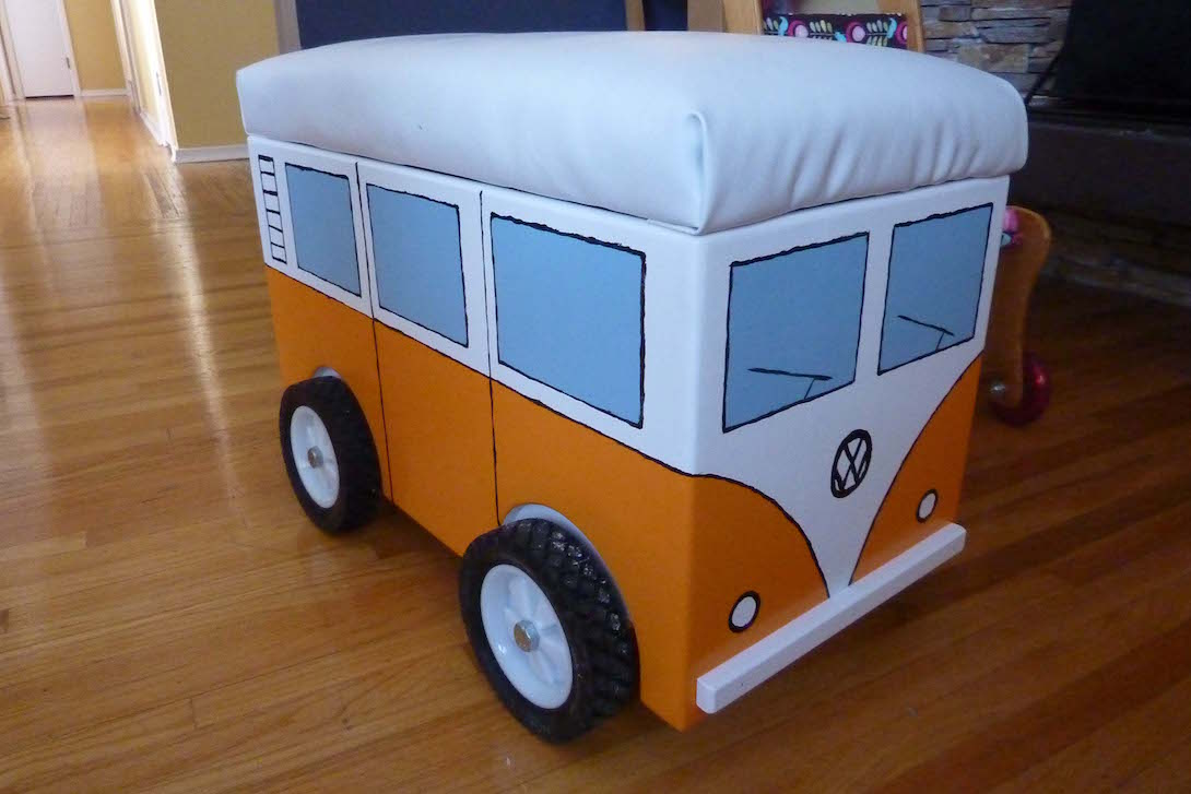 Picture Of The Day Homemade Volkswagen Camper Van Storage Bin