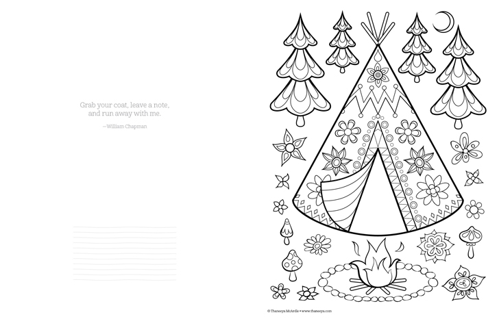 happy camper coloring pages - photo#13