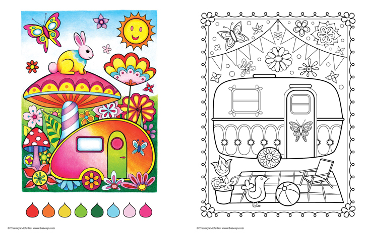 happy camper coloring pages - photo#7