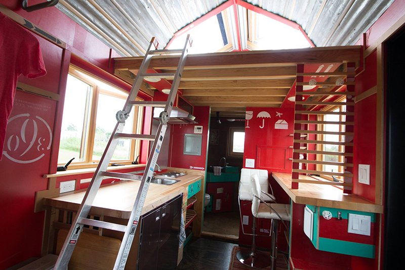 Frankenstein like teardrop trailer fused with tiny house for Loft rv
