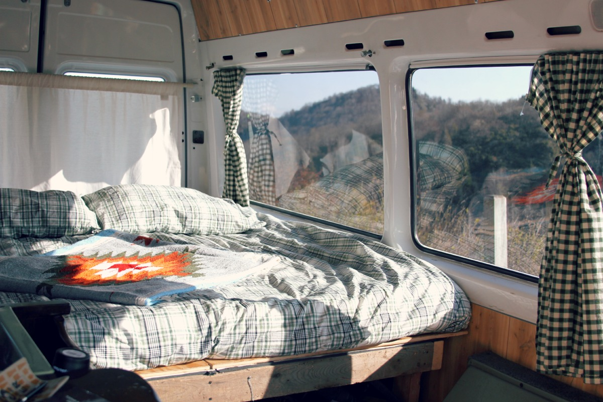 Couple Turns Old Age Home Sprinter Van Into Dirtbag Dwelling