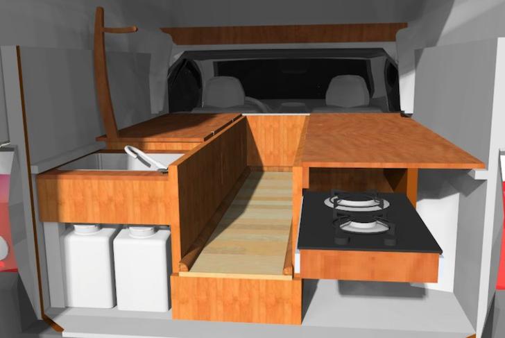 Chevrolet Montana DIY Truck Camper With Fiberglass Cap