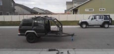 He Turned An Old Jeep Cherokee XJ Into One Helluva DIY Trailer Concept