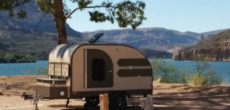Home Built Teardrop Camper Crafted Out Of Poor Man's Fiberglass