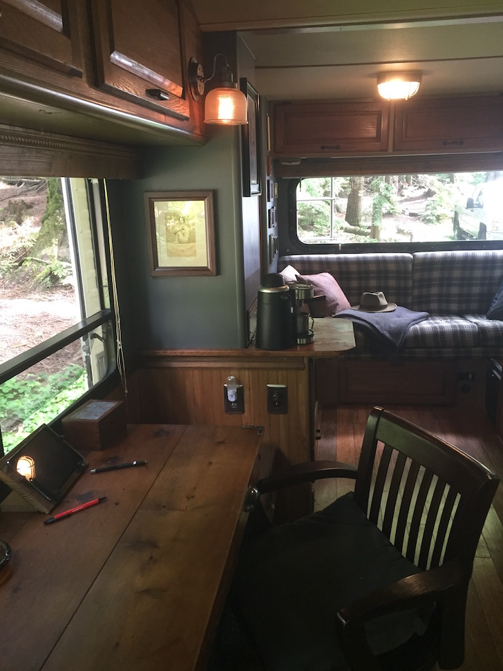 Fine Artist S Rustic Renovation Of 20 Foot Winnebago Motorhome
