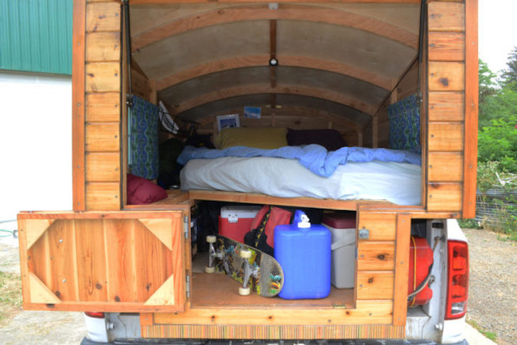 Carpenter Builds Wooden Truck Campers For Tacoma And Ram
