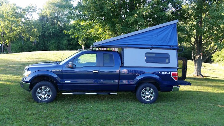 Truck Camper With Vw Inspired Pop Up Camper Van Roof