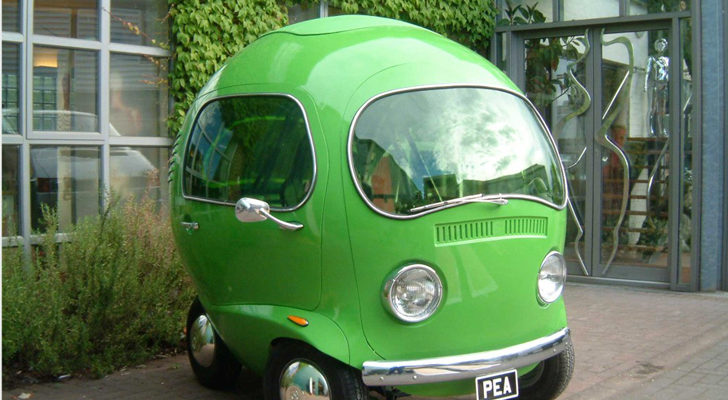This Custom Pea-Shaped Car With Volkswagen Lights Was Built For An Old TV Commercial