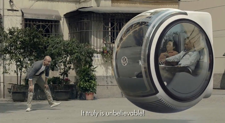Hovering Volkswagen Car: Could This Be The Model Of The Future?